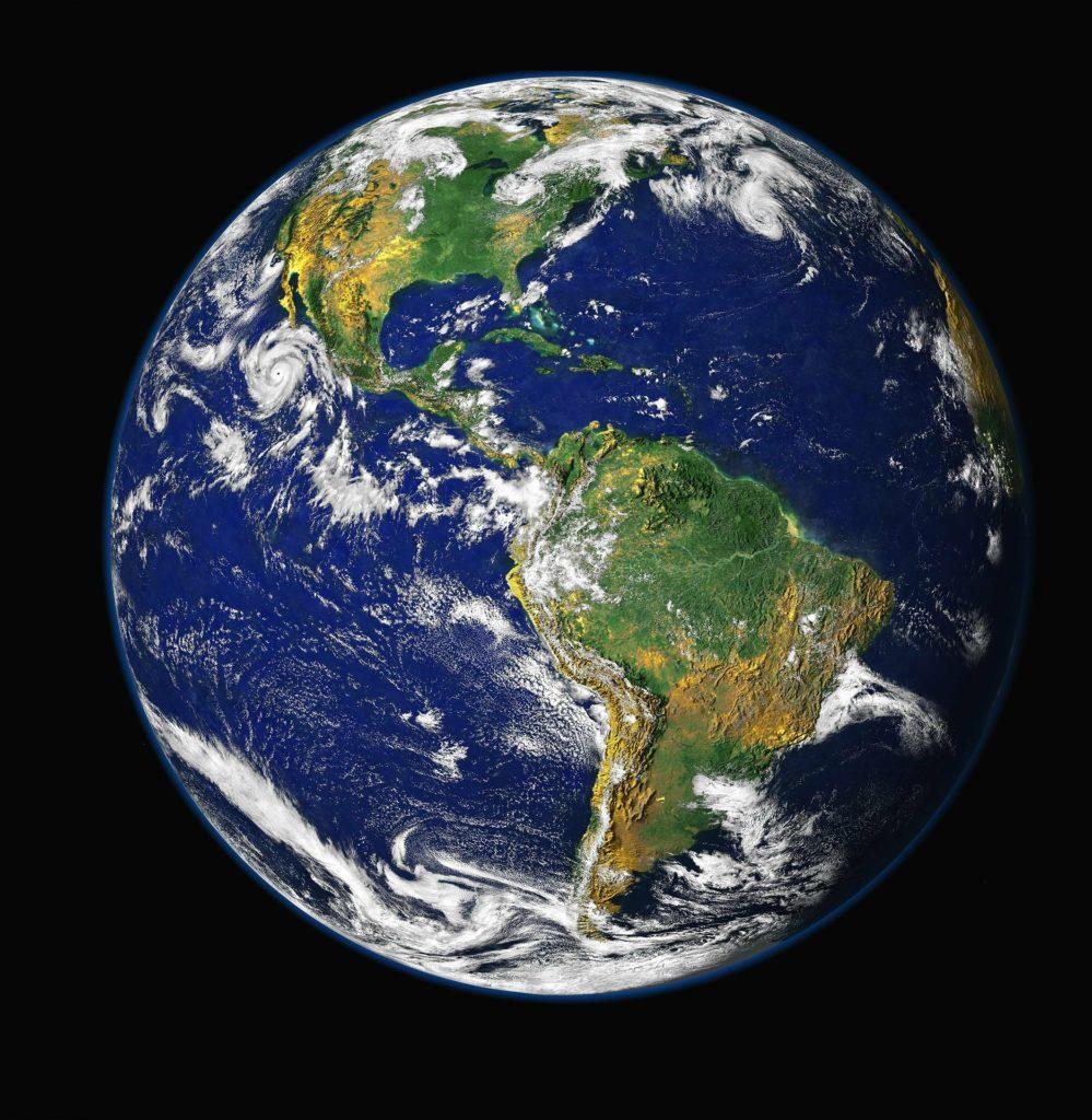 Photographie de la planète terre