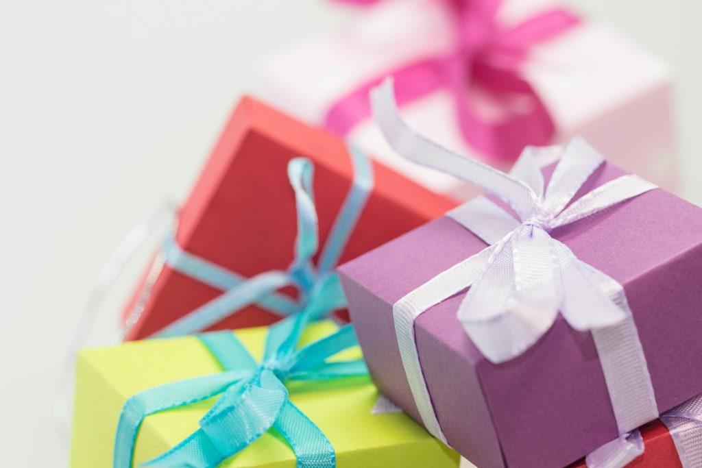 Cadeaux de Noël multicolores