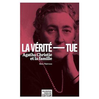 couverture du livre avec portrait d'Agatha Christie